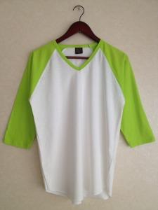 เสื้อขาว แขนสโลปเขียวตอง