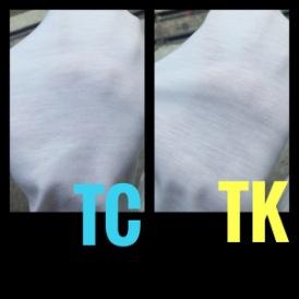 เปรียบเทียบเนื้อผ้า tc tk