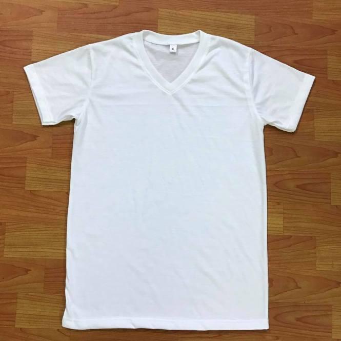 ตัวอย่างเสื้อคอวี ผ้า TC TK