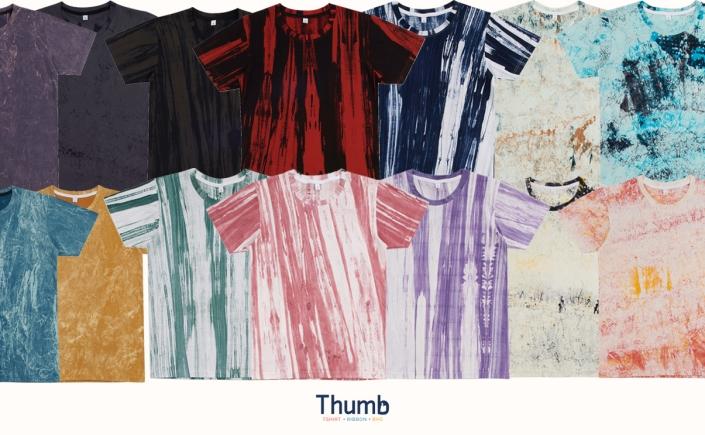 เสื้อมัดย้อม เสื้อบาติก เสื้อลายเพ้นท์ tie dye